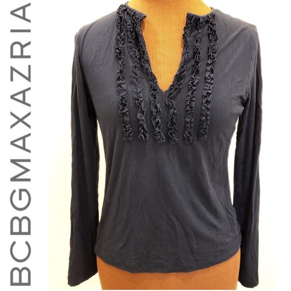 BCBGMaxAzria Tops - BCBG long sleeve stretch shirt